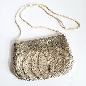 Vintage Gallery Original silver beaded evening bag